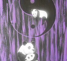 Panda Family by Noel Smith
