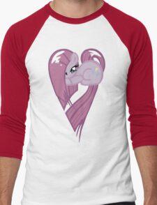 Pinkamena Heart Men's Baseball ¾ T-Shirt