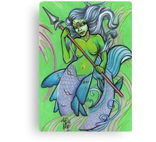 green mermaid Canvas Print