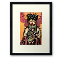 salome with severed head of john the baptist. Framed Print