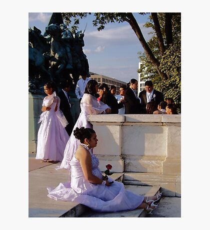 Wedding in Washington, DC Photographic Print