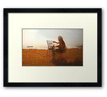 artist in the sun Framed Print