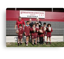Boris Johnson poses with kids at streatham-croydon R.F.C. Canvas Print