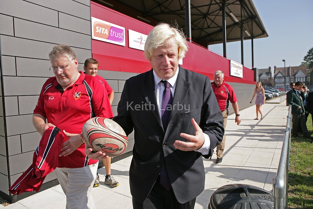 Boris Johnson officially opens streatham-croydon R.F.C by Keith Larby