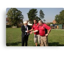 Boris Johnson officially opens streatham-croydon R.F.C. Canvas Print