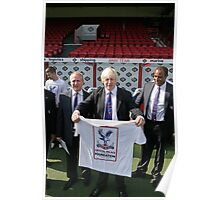 Boris Johnson visits Crystal Palace Football Club Foundation, Poster