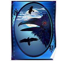 Ravens in Moon Shine Poster
