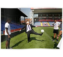 Boris Johnson visits Crystal Palace Football Club Foundation Poster