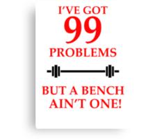99 PROBLEMS Canvas Print