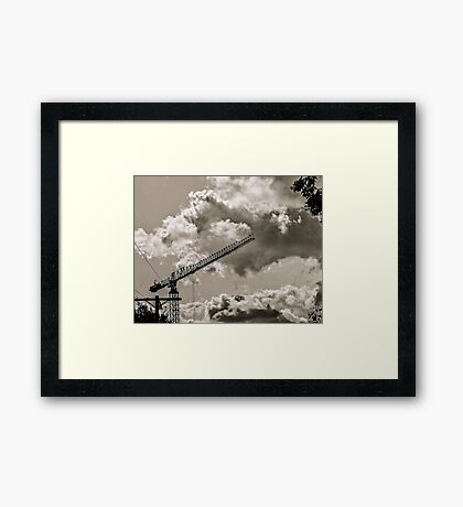 CLOUDS OVER THE PDC 3 Framed Print