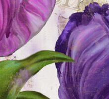 Purple Parrot Tulips Sticker