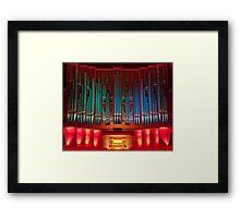 Christchurch Town Hall pipe organ Framed Print