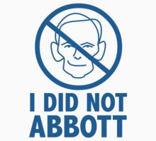 I did not Abb0tt (sticker, blue text) by James Hutson
