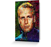 Paul Newman. Cool Cat On A Hot Tin Roof. Greeting Card