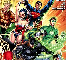Justice League Comic Cover by lexipedia
