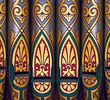 Painted organ pipes by churchmouse