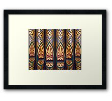 Painted organ pipes Framed Print