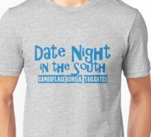 Date Night in the South Camoflouge Guns Tailgates Blue Unisex T-Shirt