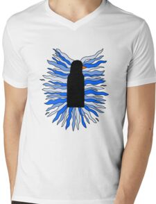 The Black Penguin Mens V-Neck T-Shirt