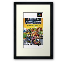 Super Mario Kart Nintendo Super Famicom Japanese Box Art Shirt (SNES) Framed Print