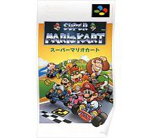 Super Mario Kart Nintendo Super Famicom Japanese Box Art Shirt (SNES) Poster
