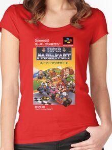 Super Mario Kart Nintendo Super Famicom Japanese Box Art Shirt (SNES) Women's Fitted Scoop T-Shirt