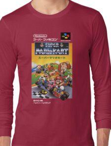 Super Mario Kart Nintendo Super Famicom Japanese Box Art Shirt (SNES) Long Sleeve T-Shirt