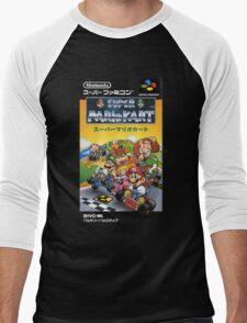 Super Mario Kart Nintendo Super Famicom Japanese Box Art Shirt (SNES) Men's Baseball ¾ T-Shirt