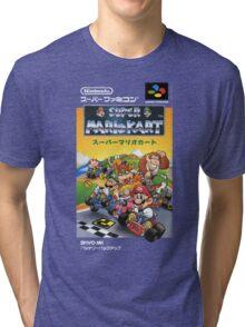 Super Mario Kart Nintendo Super Famicom Japanese Box Art Shirt (SNES) Tri-blend T-Shirt