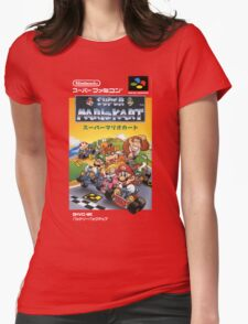Super Mario Kart Nintendo Super Famicom Japanese Box Art Shirt (SNES) Womens Fitted T-Shirt
