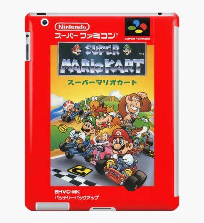 Super Mario Kart Nintendo Super Famicom Japanese Box Art Shirt (SNES) iPad Case/Skin