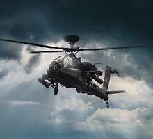 Apache Gunship by James Biggadike