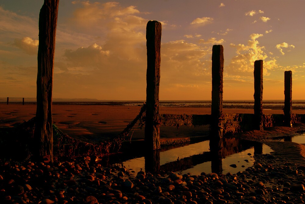 Solway Firth Sunset by Lou Wilson