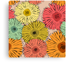 Colorful vintage abstract sunflower Canvas Print