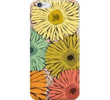 Colorful vintage abstract sunflower iPhone Case/Skin
