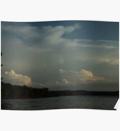 Cloudy at the Lake Poster