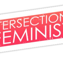 Intersectional Feminist - Orange Sticker