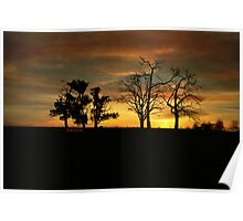 Private property sunset Poster