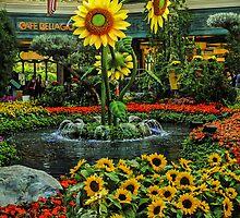 Floral Fountain - Bellagio -  Las Vegas Nevada USA by TonyCrehan