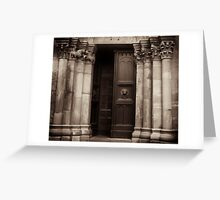 gothic portal Greeting Card