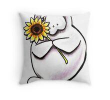 Sunny Manatee Throw Pillow