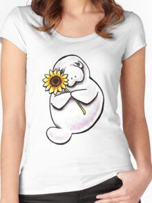 Sunny Manatee Women's Fitted Scoop T-Shirt