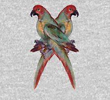 Renaisssance Parrot Art Tee Womens Fitted T-Shirt