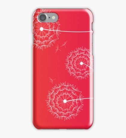 Red Sunset dandelion in spring iPhone Case/Skin