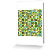 Retro dots and squares Greeting Card