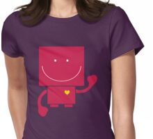 Robot Hearts You Womens Fitted T-Shirt
