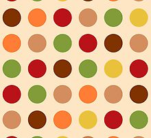 Cute red green brown polka dots by silvianna