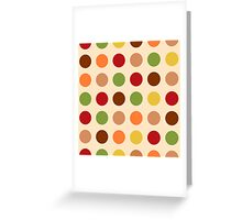 Cute red green brown polka dots Greeting Card