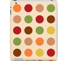 Cute red green brown polka dots iPad Case/Skin