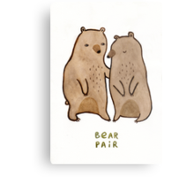 Bear Pair Metal Print